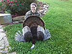 """Elizabeths 2012 Turkey,My Turkey Girl got it done again and this time all by herself! 19 lbs. 9 1/2"""" beard with 1"""" spurs.I am very proud of her to..."""