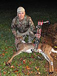 My first Deer of the 2012 Bow season,a nice little eating size Doe.