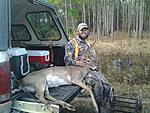 Last Day of the season Double brow tine 7 point buck