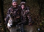 Jason2015BuckOct31st. My son & Grandson with my son & a small 10 pt., 1 of 3 Deer he took in 2015.
