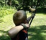 hunt95.  My next G-son at his 1st 3-D with GrandPa.  He now owns a compound.