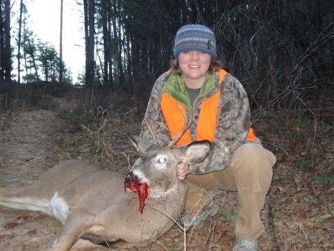 Sister's first whitetail buck, .243 Win