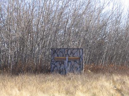 Can i see some pics of homemade ground blinds for Homemade hunting blinds