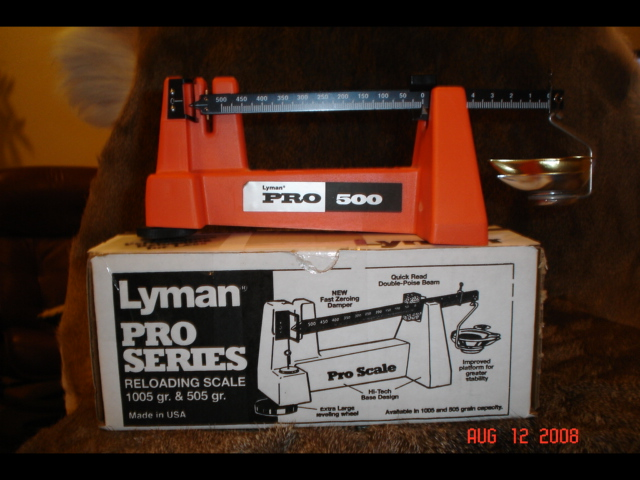 lyman 500 scale instructions
