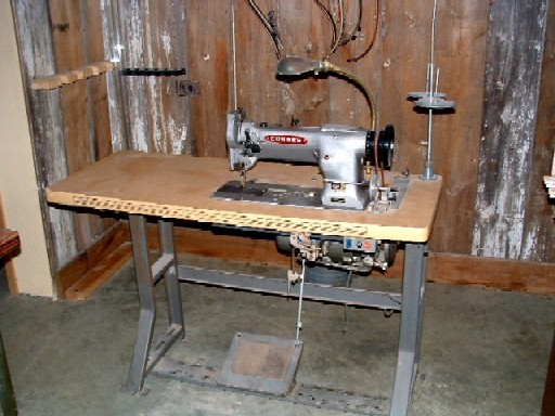 sewing machine for leather work